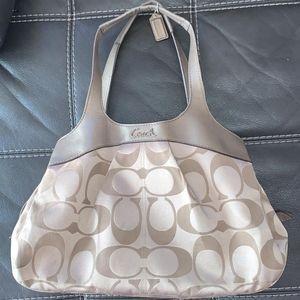 RARE Coach Lexi signature sateen satchel bag